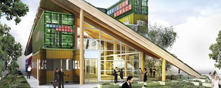 Un Pabellón De Expo Milano Realizado Con Containers