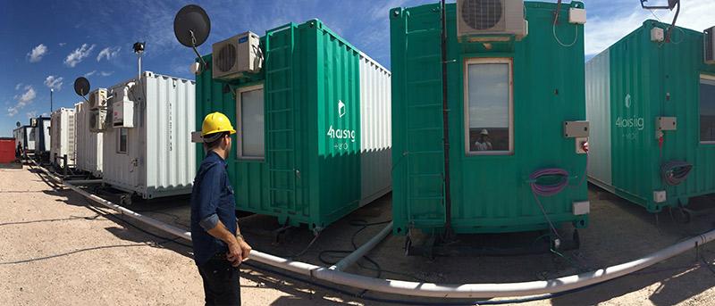 Campamento De Tráilers Petroleros En El área De Magallanes