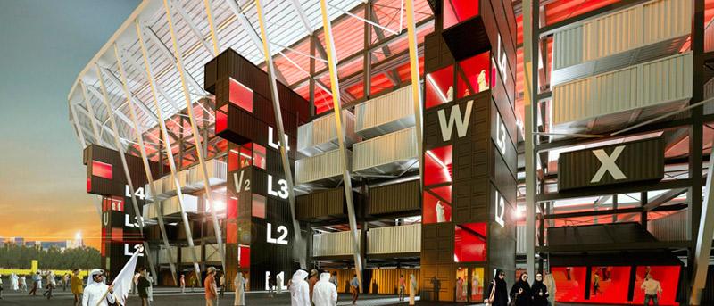 Innovador Estadio De Contenedores Para Qatar 2022