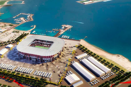 Estadio Construido Con Contenedores En Qatar 2022